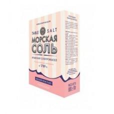 Натуральная морская розовая соль, средний кристалл (пищевая),800г.