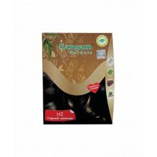 Краска для волос на основе хны,H2-Горький шоколад  (Темно-коричневый),50г